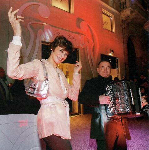 080220 Avec Ines de la Fressange (Fashion Week Milan)